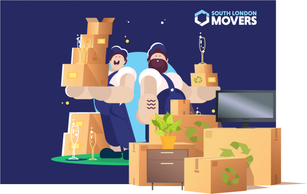 South London Movers Packing Graphic